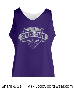 Ladies' River Club Athletic Fit Glitter Tank Design Zoom